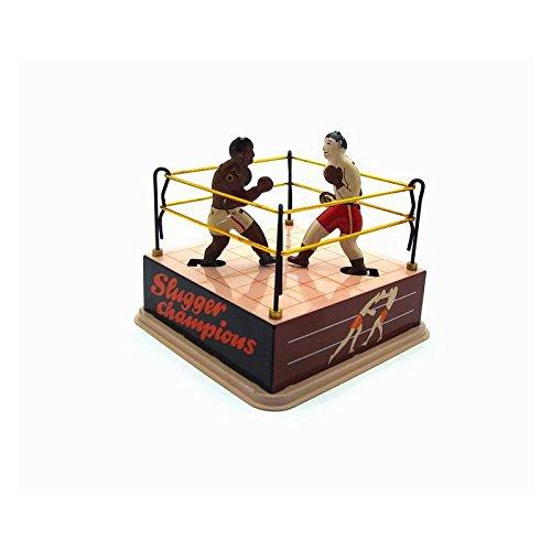 EEvER Personalisiertes lustiges Spielzeug Boxring Boxer Blechspielzeug, Classic Vintage Uhrwerk Wind Up Boxring Boxers Kinder Kinder Zinn Spielzeug mit Schlüssel - Zinn Wind-up Spielzeug
