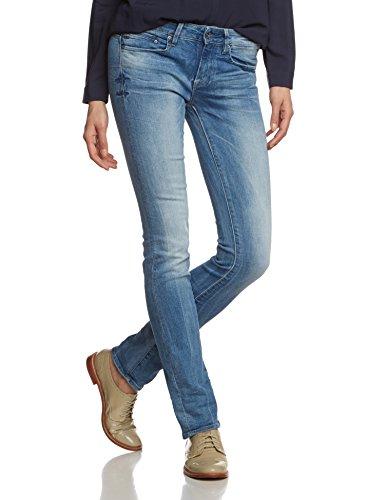 G-STAR Damen Straight Leg Jeanshose Midge Mid - binsk superstretch, Gr. W25/L32, Blau (Lt Aged 6745.424) (Frauen Jeans Unter $25)