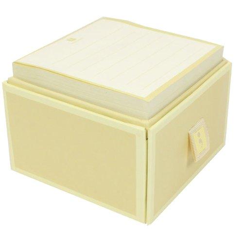 Schuber mit Sticky Notes chamois +++ 200 Blatt Haftnotizblätter (liniert) +++ HAFTNOTIZBLOCK mit kleiner Box +++ Semikolon Qualität