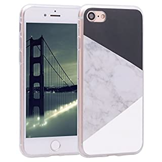 Asnlove Handyhülle iPhone 8 4.7 Zoll Cover TPU Weiche Schutzhülle Marmor Kreativ Muster Tasche Motiv Muster Etui Backcover Soft Case Hülle für Apple iPhone 8 / iPhone 7 4,7 Zoll