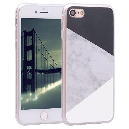 Asnlove Handyhülle iPhone 8 4.7 Zoll, iPhone 7 Silikon Cover TPU Weiche Schutzhülle Marmor Kreativ Muster Tasche Motiv Muster Etui Backcover Soft Case Hülle für Apple iPhone 8 / iPhone - Apple-weiß-kleidung