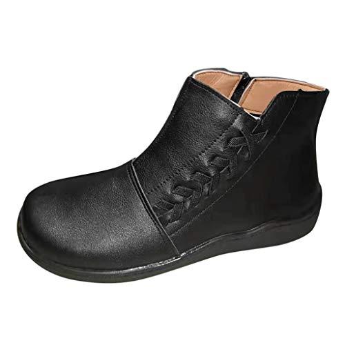 Stivali Donna Invernali Elegante con Le Frange Stivaletti Bassi da Donna Moda Tassel Low Cylinder Stivali Scamosciati Donna Invernali da Escursione Trekking Scarpe Ankle Boots