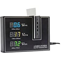 Gowe Pellicola Solare trasmissione Meter Tester UV 365nm, VL 380–760Nm, Centro Lunghezza d' onda 950nm IR, colore: nero o argento - Centro Gage
