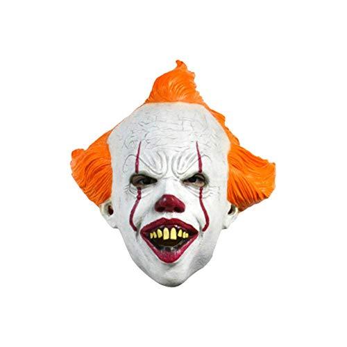mysticall Unheimlich Clown Maske, Halloween Horror Maske, Kostüm Maske Cosplay Halloween beängstigend Latex realistische Prop Party Gesichtsmaske (Beängstigend Realistische Kostüm)