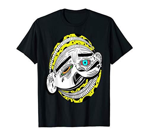 Abstrakte Kunst Gesicht Kopf Geschenk T-Shirt