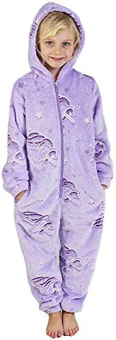 Pijamas de un Pieza Niño Niña Unicornio Conejo Koala Perro Gato Dinosaurio Pingüino Pijama Niños Niñas 2-14 Añ
