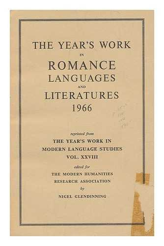 The Year's Work in Romance Languages and Literatures 1966
