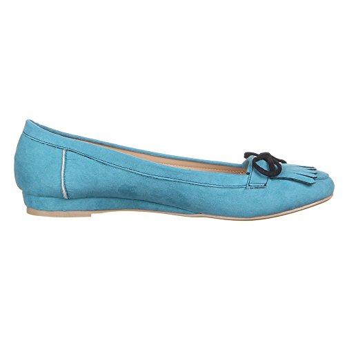 Damen Schuhe, 50006, BALLERINAS Hellblau