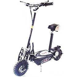 KENROD Patinete Eléctrico Plegable Scooter Eléctrico de Dos Ruedas con Manillar y Asiento Ajustable 1000W Color Negro