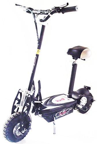 KENROD Patinete Eléctrico Plegable Scooter Eléctrico de Dos Ruedas con Manillar y Asiento Ajustable 1600W Color Negro