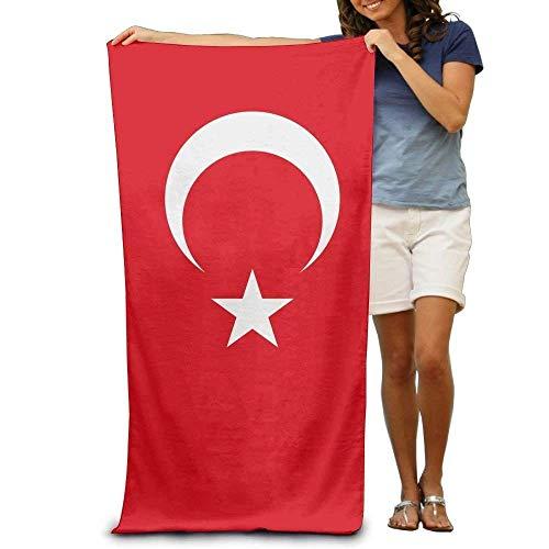 Flagge der Türkei Erwachsene Strandtücher schnell / schnell trocknend maschinenwaschbar leichte saugfähige Plüsch-Mehrzweckhandtücher für Schwimmen, Pool, Strand, Fitnessstudio, Camping, Yoga
