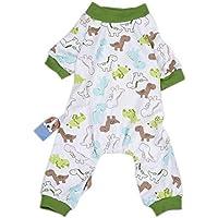 Keptfeet Cotton Pajamas Dinosaur Apparel Jumpsuit Gifts for Dog