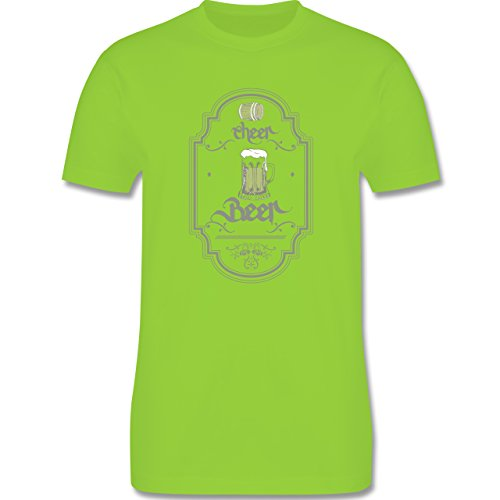 Statement Shirts - Cheer Beer - Herren Premium T-Shirt Hellgrün