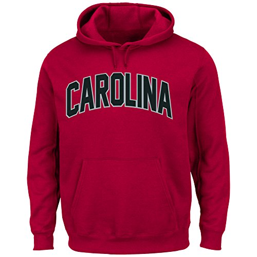 Majestic Athletic NCAA Herren Hooded Fleece Pullover Sweatshirt, Team Farbe, herren, Concord Red, X-Large
