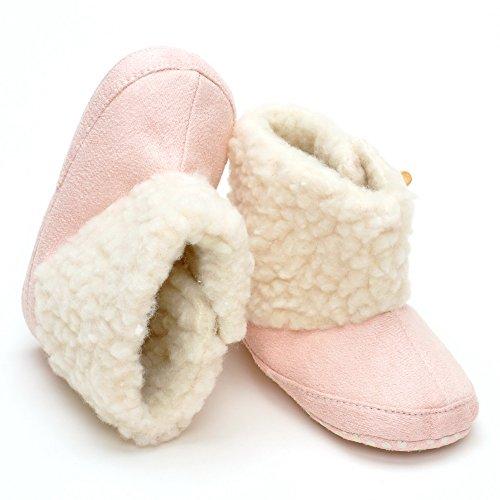 Säugling Mädchen Winter warme Plüsch Stiefel Rosa