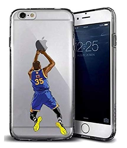 TN Cases Store Hülle Kompatibel mit iPhone 7 / iPhone 8 Kevin Durant KD Golden State Warriors 35 NBA Basketball NBA TPU Silikon