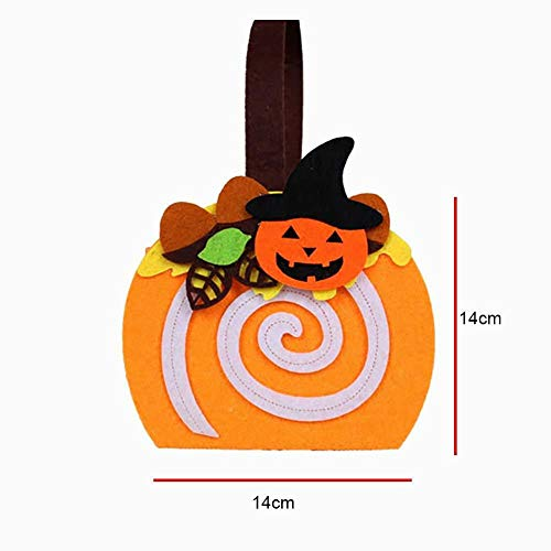 Hilai Halloween-Trick oder Behandeln Taschen mit Kürbis Form oder Traditionelle Halloween-Süßigkeiten-Tasche ideal für Kinder 1pcs