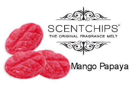 Mango-papaya-duft (SCENTCHIPS Duftwachs Aroma Wachs Blätter 3 Stück ~ MANGO PAPAYA ~)