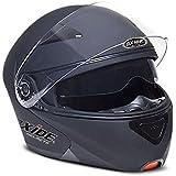 Oxide Vader Modular Con Tapa Up motocicleta accidente casco de moto, Mate (tamaño grande)