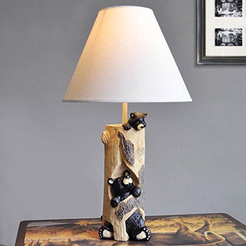 Tischlampe Kind Bär Stil amerikanische Tischlampe Schlafzimmer Nachttischlampe Rustikale retro Nachttischlampe (Amerikanische Kinder Bettwäsche)