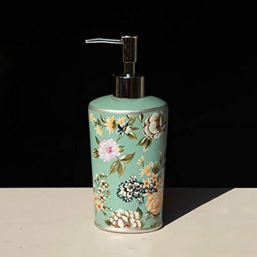 Goodscene Seifenspender/Seifenspender/Seifenspender, Keramik, handbemalt, europäischer Stil, Vintage-Design, für Hotels, 410 ml (D) 75 (H) 205 mm