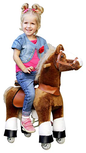 """Ponycycle \"""" Amadeus \"""" Pferd hell braun, Pony auf Rollen fahrendes Schaukelpferd und Kuscheltier für Ihr Kind von MyPony (Small)"""