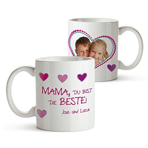 Tassenwerk Foto-Tasse mit Aufdruck - Personalisiert mit Namen und Foto – Persönliches...