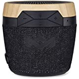 House of Marley Chant Mini BT - Portable Bluetooth Speaker, Splash Resistant, 6hr Play Time Battery Life, Mic Speakerphone, Carabiner Clip, Wireless Connect iPhone, iPad, Samsung - Signature Black