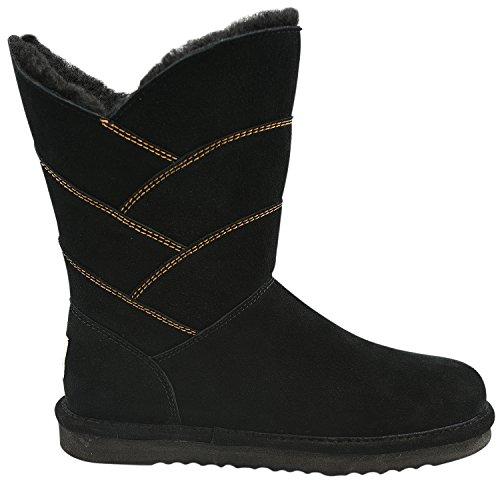Oasap Damen Winter Klassische Rund Schnee Stiefeln Black