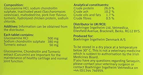 Seraquin Nutritional Supplement for Dogs, 2g x 60 tablets at