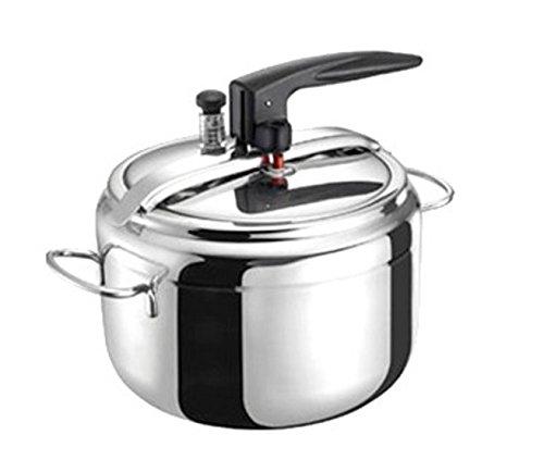 Bialetti Industrie Easy Chef Aeternum Pentola Pressione, Acciaio Inossidabile, Argento