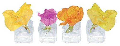 floristikvergleich.de 12 X Tischvase Glas für Blüten Tischdeko Hochzeit Blumenvase