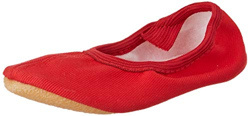 Beck Unisex-Kinder Basic Gymnastikschuhe, Rot 07, 33 EU - Rote Ballettschuhe