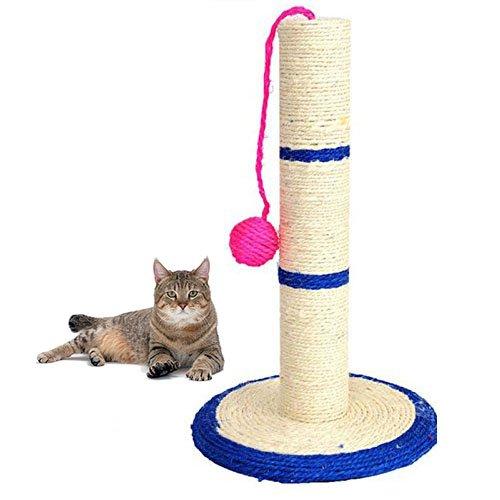 Ducomi Miao - Tiragraffi per Gatti - Colonna Albero in Corda Sisal Naturale - Design Robusto - Gioco Divertente per Il Tuo Gatto (L)