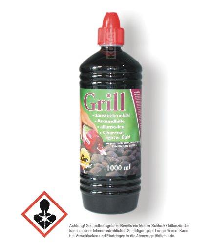 Farmlight 12 Flaschen Grillanzünder flüssig nach DIN 1860-3 2003-12 in 1-Liter-PET-Flasche
