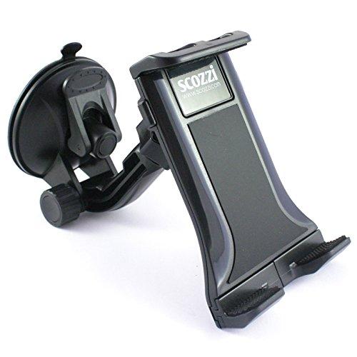 Supporto auto scozzi 360° universale smartphone telefono porta staffa cellulare parabrezza ( anche tablets da 7 - 10.1 pollici ) ventosa autoveicolo autocarro camion nero (ama2)