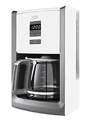 Beko CFD6151W Digital Display Sense Filter Coffee Machine, 1000 W, White