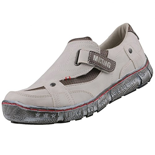 Mustang 1110-402, Baskets mode homme Offwhite