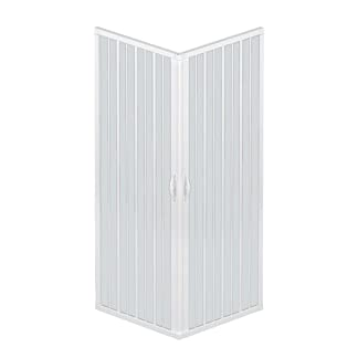 Rollplast blun2concc28080120ducha cabin-size: H 80x 120x 185cm PVC–2lados y 2puertas, con apertura angolare., color blanco