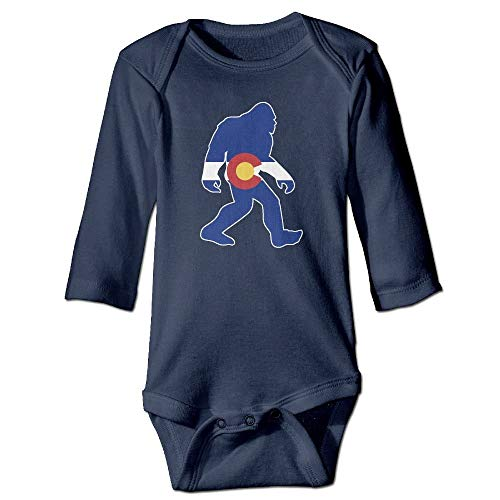 WBinHua T-Shirts für Baby-Jungen,Bertha Colorado Flag Big Foot Yeti Baby Toddler Long Sleeve Onesies Bodysuits