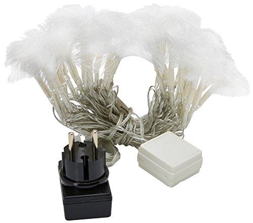 E=M6 5EEX932BC Guirlande Bouquet Fibre Optique 32 LED 8 Fonctions, Plastique, Blanc