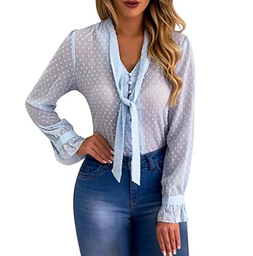Neue Elektro Kostüm - Damen Bluse Hemd Elegant Business Chiffon