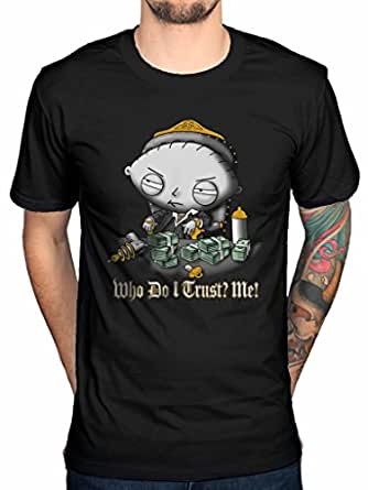 Official family guy stewie trust t shirt cartoon turban for Family guy t shirts amazon