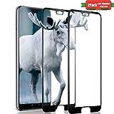 Aonsen Huawei P20 Pro Panzerglas Schutzfolie [Blasenfreie] [2 Stück] [Nicht Panzerglas Folie], Huawei P20 Pro HD Displayschutzfolie Folie Panzerglas Schutzfolie - Schwarz