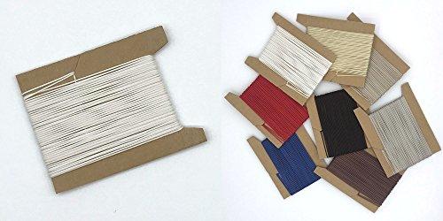 20 m Schnur für Plissees 0,8 mm - 8 Farben - Plisseeschnur - Spannschnur für Plissee - ps FASTFIX - hier weiß
