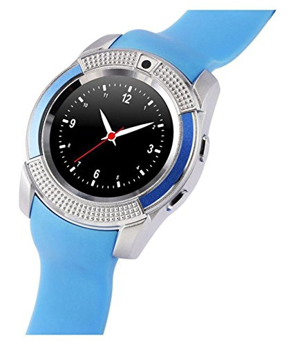 Mobilefit Bluetooth Smartwatch Android 5.1 OS | Facebook | Whatsapp | Activity Tracker | Fitness Band | Music | Camera With Video Recording S25 ... (BLUE) Compatible for Micromax Bolt A068  available at amazon for Rs.2499
