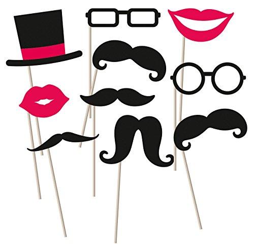 amscan 998557 Fotorequisiten-Set Moustache