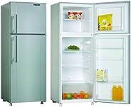 Nikai 280 LIters Double Door Defrost Refrigerator, Silver - NRF280DN3S, 1 Year Warranty