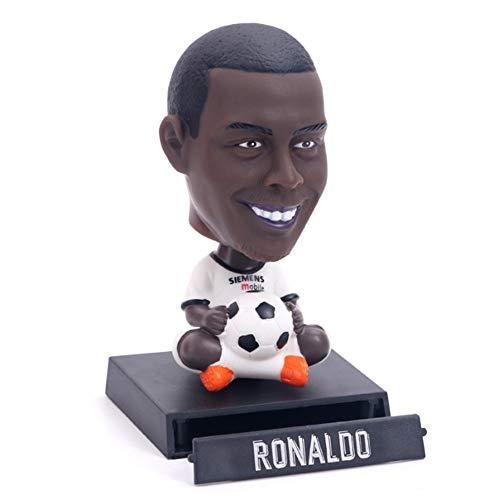 Enjoyfeel Estatua de Bolsillo del Regalo de los fanáticos de la Copa del Mundo, decoración del Coche (Ronaldo 2)