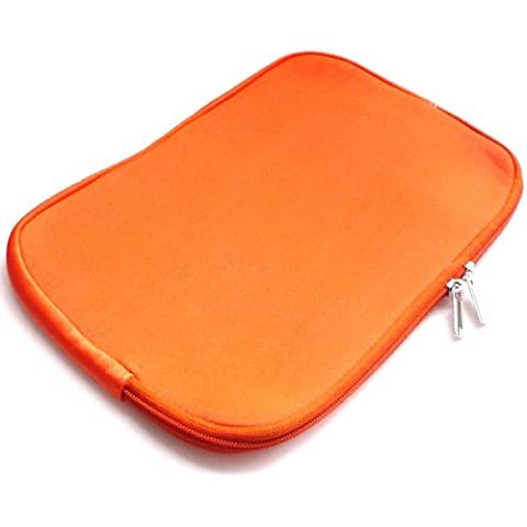 Emartbuy® Arancione Impermeabile Morbido Neoprene Custodia Sleeve Case Cover Adatta Per Asus X550 15.6 Pollice Notebook ( 15-16 Pollice Laptop / Notebook )